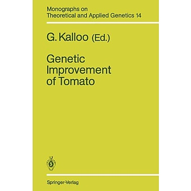 Genetic Improvement of Tomato (Monographs on Theoretical and Applied Genetics), New Book (9783642842771)