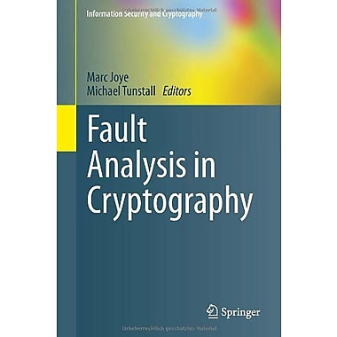 Fault Analysis in Cryptography (Information Security and Cryptography), Used Book (9783642296550)