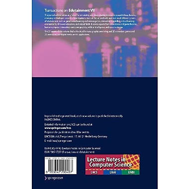 Transactions on Edutainment VII (Lecture Notes in Computer Science) (9783642290497)