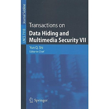Transactions on Data Hiding and Multimedia Security VII (Lecture Notes in Computer Science), Used Book (9783642286926)