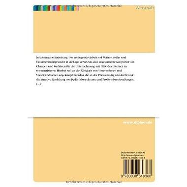 Neue Chancen fur das Marketing durch Internet-basierte Trendforschung (German Edition), New Book (9783838618388)