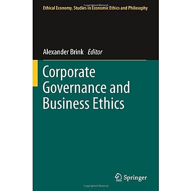 Corporate Governance and Business Ethics (Ethical Economy), New Book (9789400715875)