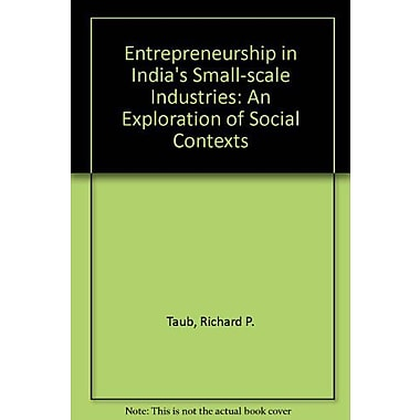Entrepreneurship in India's Small-scale Industries: An Exploration of Social Contexts, Used Book (9788185054636)