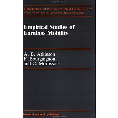 Empirical Studies Of Earnings (Fundamentals of Pure and Applied Economics) (9783718652143)