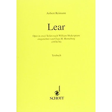 LEAR LIBRETTO (GERMAN) (9783795736897)