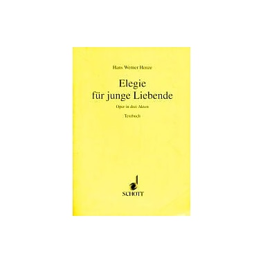ELEGIE FUR JUNGE LIEBENDE (ELEGY FOR YOUNG) GERMAN LIBRETTO, New Book (9783795733537)