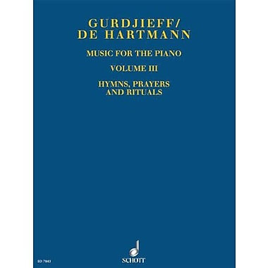 MUSIC FOR THE PIANO VOLUME 3 HYMNS PRAYERS AND RITUALS, Used Book (9790001128544)