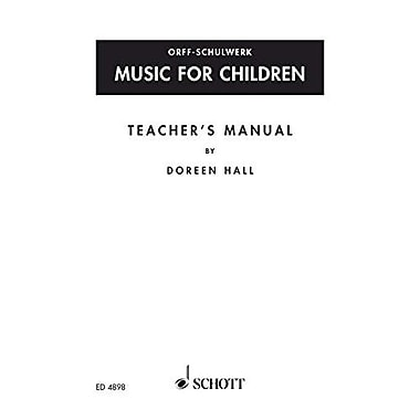 MUSIC FOR CHILDREN TEACHERS MANUAL (9783795726300)