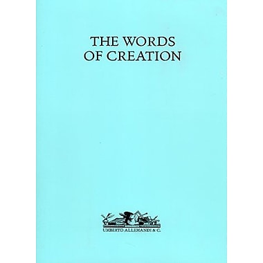 The Words of Creation, Used Book (9788842208105)