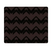 OTM Prints Black Mouse Pad, Black on Bronze Herringbone