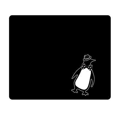 OTM Prints Black Mouse Pad, Penquin
