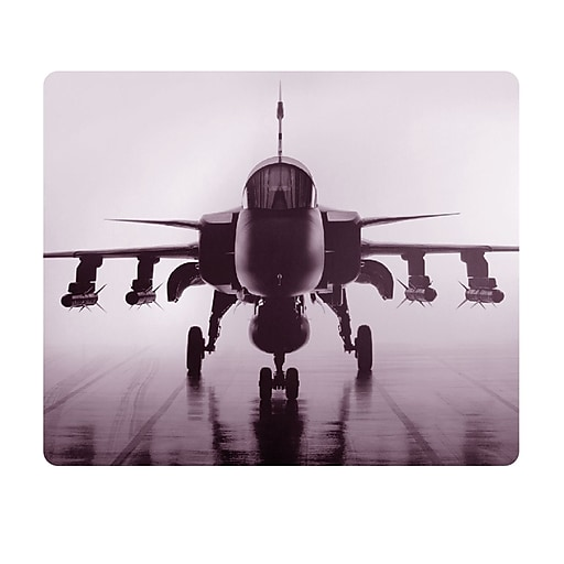 OTM Essentials Rugged Prints Rectangular Black Mouse Pad, Airplane Print (73196857759)
