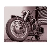 OTM Prints Black Mouse Pad, Motorcycle