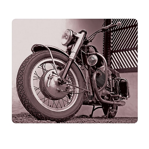 OTM Prints Black Mouse Pad, Motorcycle