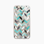 OTM Essentials Classic Prints Clear Phone Case for Use with iPhone 6 Plus, Ziggy Aqua (OP-IP6PV1CLR-ZGY-01)