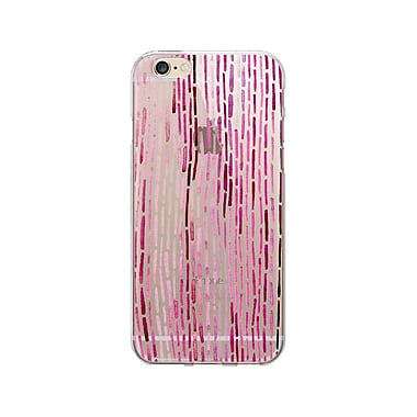 OTM Essentials Artist Prints Phone Case for Use with iPhone 6/6S Plus, Dashes Carmine, Clear (OP-IP6PV1CLR-ART01-2)