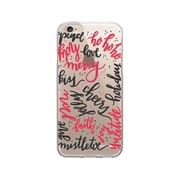 OTM Essentials Artist Prints Clear Phone Case for Use with iPhone 6/6S Plus, Holiday Wishes Berry (OP-IP6PV1CLR-ART-26)