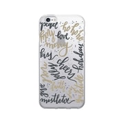 OTM Essentials Artist Prints Clear Phone Case for Use with iPhone 6/6S, Holiday Wishes Gold (OP-IP6V1CLR-ART-25)
