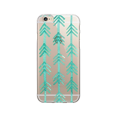 OTM Essentials Artist Prints Clear Phone Case for Use with iPhone 6 Plus, Hunter Turquoise (IP6PV1CLR-ART-10)