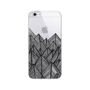 OTM Essentials Artist Prints Clear Phone Case for Use with iPhone 5/5S, Jagged Rocks Ebony (OP-IP5V1CLR-ART01-17)