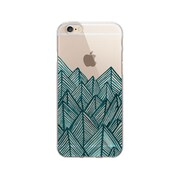 OTM Essentials Artist Prints Clear Phone Case for Use with iPhone 6/6S, Jagged Rocks Teal (OP-IP6V1CLR-ART01-18)