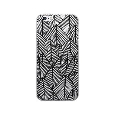 OTM Essentials Artist Prints Phone Case for Use with iPhone 5/5S, Rocks Ebony, Clear (OP-IP5V1CLR-ART01-19)