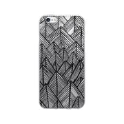 OTM Essentials Artist Prints Clear Phone Case for Use with iPhone 6/6S Plus, Rocks Ebony OP-IP6PV1CLR-ART01-1()