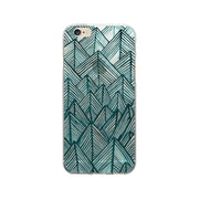 OTM Essentials Artist Prints Clear Phone Case for Use with iPhone 6/6S Plus, Rocks Teal (OP-IP6PV1CLR-ART01-2)