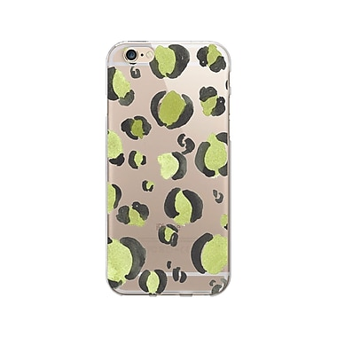OTM Essentials Artist Prints Clear Phone Case for Use with iPhone 5/5S, Spotted Chartreuse (IP5V1CLR-ART-01)
