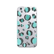 OTM Essentials Artist Prints Clear Phone Case for Use with iPhone 6 Plus, Spotted Turquoise (IP6PV1CLR-ART-02)