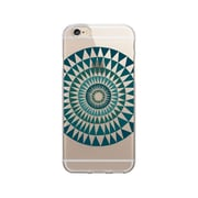 OTM Essentials OP-IP6PV1CLR-ART01-2 Artist Prints Clear Phone Case for iPhone 6/6S Plus, Sun Print Blue Ivy