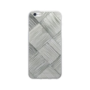 OTM Essentials Artist Prints Phone Case for Use with iPhone 6/6S, Woven Slate, Clear (OP-IP6V1CLR-ART01-12)