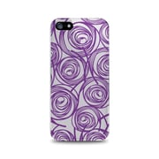 OTM Essentials Classic Prints Clear Phone Case for Use with iPhone 5/5S, New Age Swirls of Amethyst (IP5CLR-AGE-02V4)