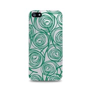 OTM Essentials Classic Prints Phone Case for Use with iPhone 5/5S, New Age Swirls of Jade, Clear (IP5CLR-AGE-02V2)