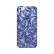 OTM Essentials Classic Prints Clear Phone Case for Use with iPhone 5/5S, New Age Swirls of Sapphire (IP5CLR-AGE-02V3)