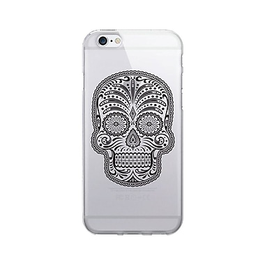 OTM Essentials Hipster Prints Clear Phone Case for Use with iPhone 6 Plus, Mr. Sugar Bones (IP6PV1CLR-HIP-17)