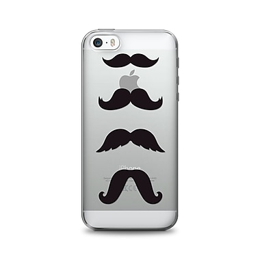 OTM Essentials Hipster Prints Phone Case for Use with iPhone 5/5S, Mustache, Clear (IP5V1CLR-HIP-08)