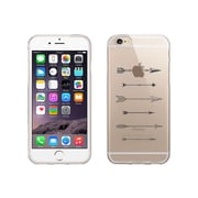 OTM Essentials Hipster Prints Clear Phone Case for Use with iPhone 6/6S, Shooting Grey Arrows (IP6V1CLR-HIP-19)
