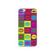 OTM Essentials POP Prints Clear Phone Case for iPhone 6/6s, Hot Lips (IP6V1CLR-POP-07)