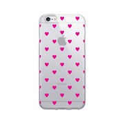 OTM Essentials Classic Prints Clear Phone Case for Use with iPhone 6/6S, Dotty Magenta Hearts (IP6V1CLR-CLS-09)