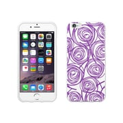 OTM Essentials Classic Prints White Phone Case for Use with iPhone 6 Plus, New Age Swirls of Amethyst (IP6WG-AGE-02V4)