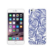 OTM Essentials Classic Prints Phone Case for Use with iPhone 6 Plus, New Age Swirls of Sapphire, White (IP6PWG-AGE-02V3)