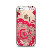 OTM Essentials Floral Prints Phone Case for Use with iPhone 6/6S, Paisley Red, Clear (IP6V1CLR-FLR-05)