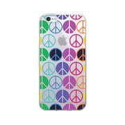 OTM Essentials Hipster Prints Phone Case for Use with iPhone 6/6S, Rainbow Peace, Clear (IP6V1CLR-GRV-03)