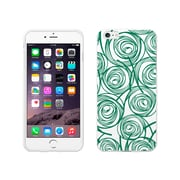 OTM Essentials Classic Prints White Phone Case for Use with iPhone 6 Plus, New Age Swirls of Jade (IP6PWG-AGE-02V2)