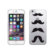 OTM Essentials Hipster Prints Clear Phone Case for Use with iPhone 6 Plus, Mustache (IP6PV1CLR-HIP-08)