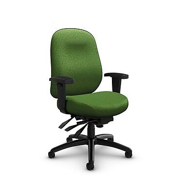 Global Granada Deluxe Heavy Duty Low Back Multi Tilter, Match, Green Fabric, Green