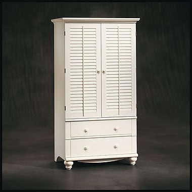 Sauder Harbor View Armoire, Antiqued White, 2 Ctns