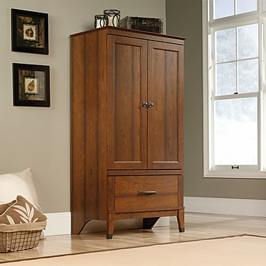 Sauder Carson Forge Armoire, Washington Cherry