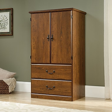 Sauder Orchard Hills Armoire, Milled Cherry